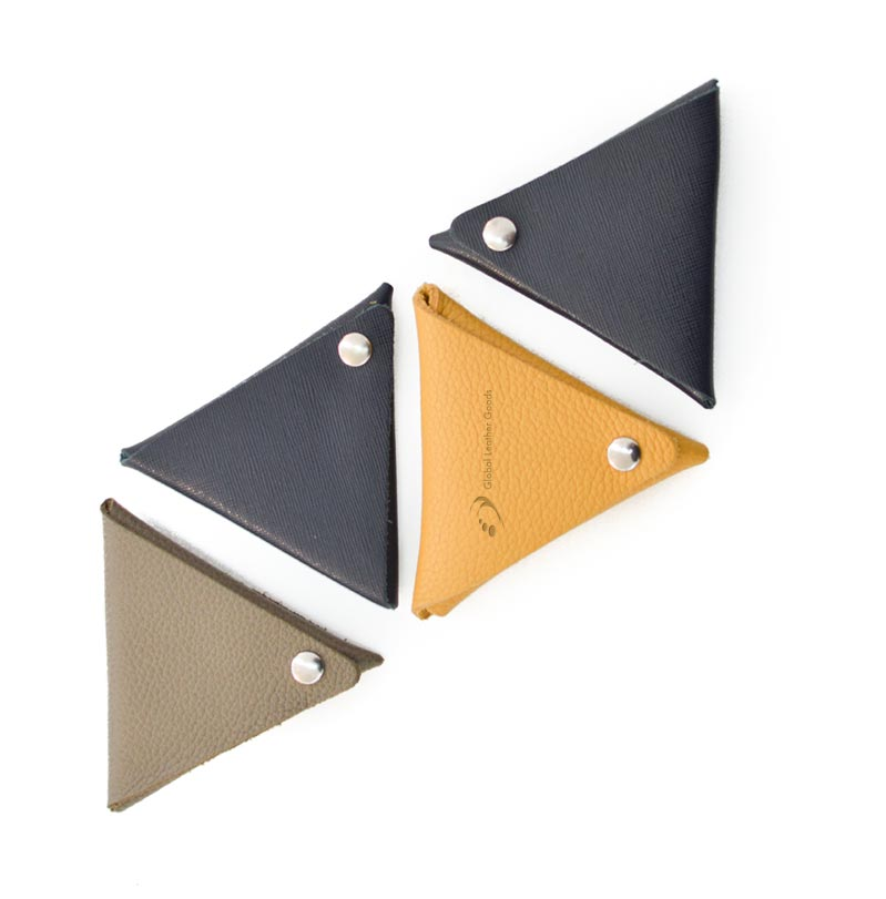 marroquinería monedero triangular azteca global leather goods