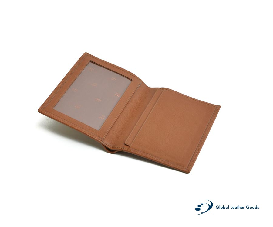 marroquineria cartera credencial plano piel