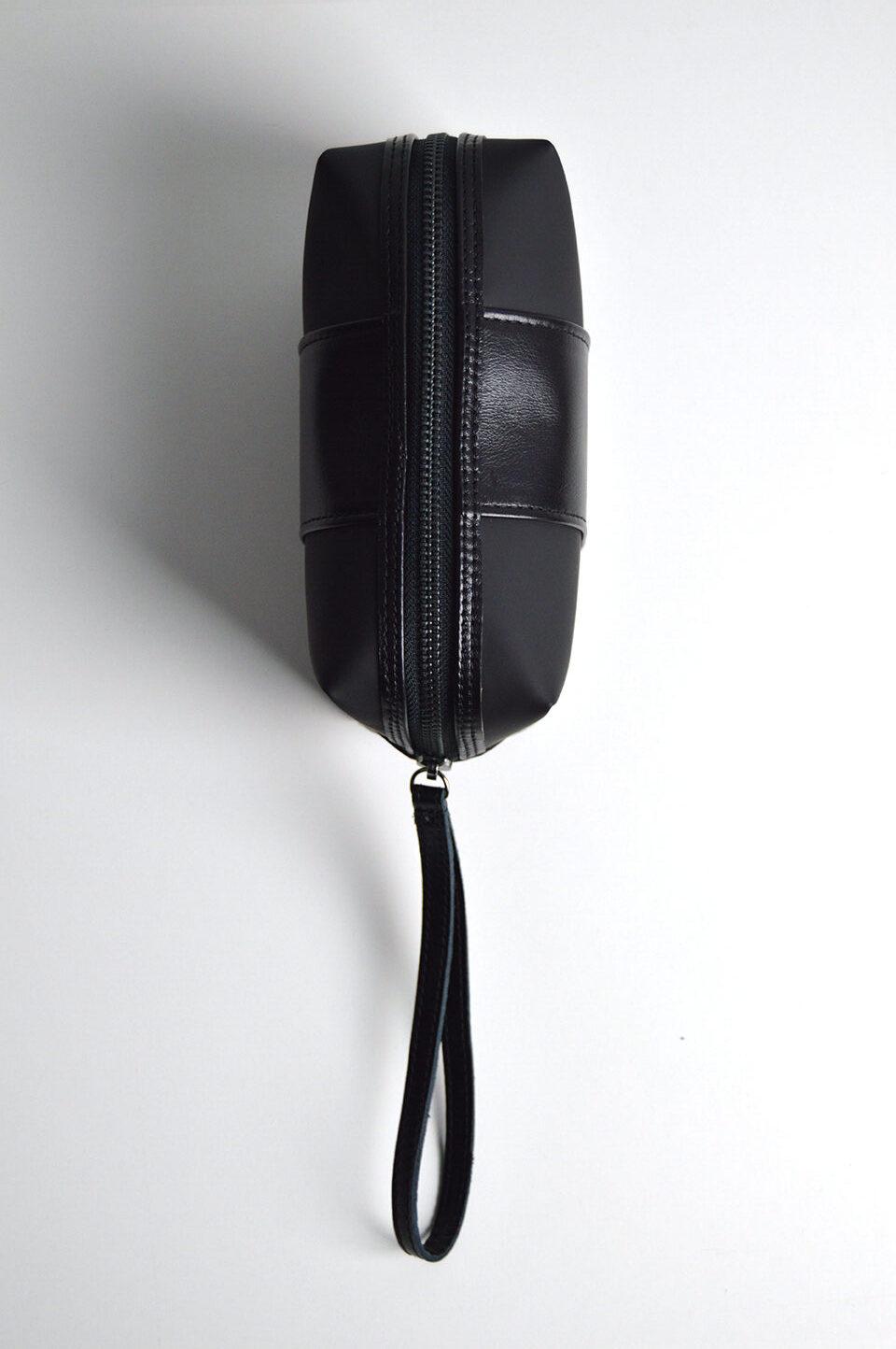 clutch bag neceser piel negro