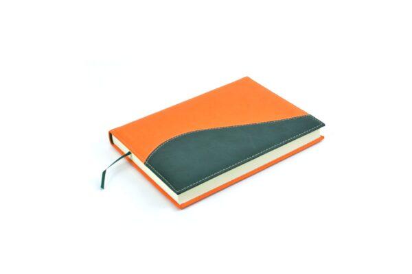 agendas 2022 personalizada diaria cosida vivella verde naranja botella