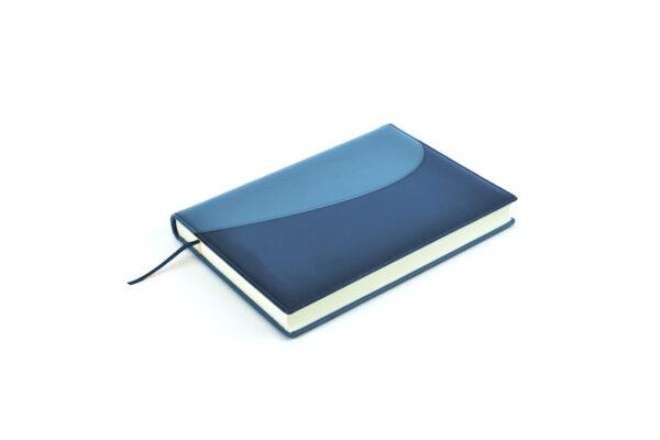 Compra Agendas 2022 personalizadas de diseño bitono azul