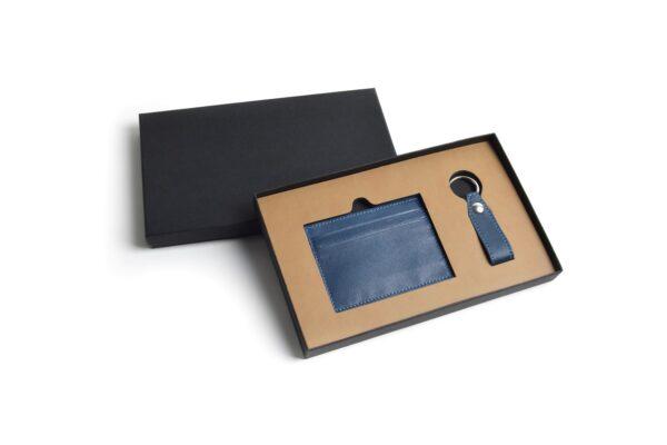 Compra welcome pack tarjetero llavero azul como regalos de empresa personalizados