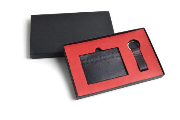 Compra welcome pack tarjetero llavero negro como regalos de empresa personalizados