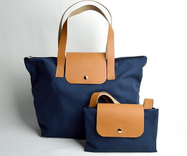 Marroquinería - accesorios de viaje bolsas-plegables-cuero-reciclado