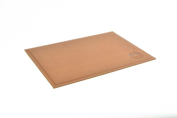 accesorios de escritorio - vade escritorio piel marron claro