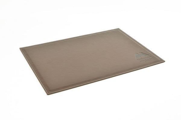 accesorios de escritorio - vade escritorio piel marron